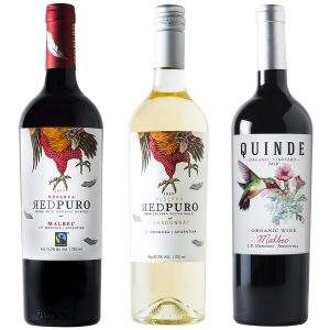 Quinde Malbec x 750 ml + Red Puro Chardonnay x 750 ml + Red Puro x 750 ml
